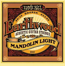 Ernie Ball 2067 Earthwood 80/20 Bronze Mandolin Light Strings Free Ship in USA!