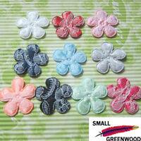 "(U Pick) Wholesale 50-500 Pcs 1-3/8"" Padded Satin Lace Flower Appliques F3310S"