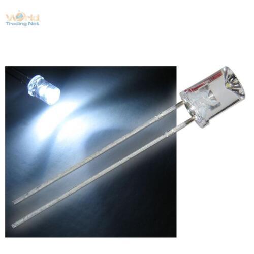 100 LED 5mm konkav weiß mit Zubehör weiße concave LEDs