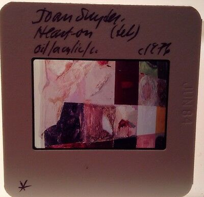 "Joan Snyder ""Heart On"" 35mm Art Slide American Contemporary Painting"