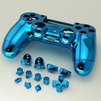 Ps4 Controller Gehäuse Trigger Modding Chrom Case Shell Button Thumbstick Blau