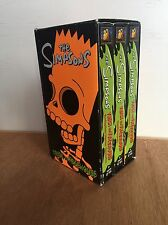 The Simpsons Trick or Treehouse VHS 3 Video Box Set Halloween Heaven Hell Murder