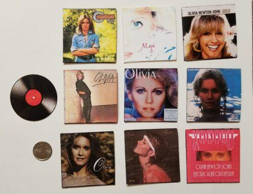 Miniature record album Barbie Gi Joe 1//6    Playscale Olivia Newton John Physica