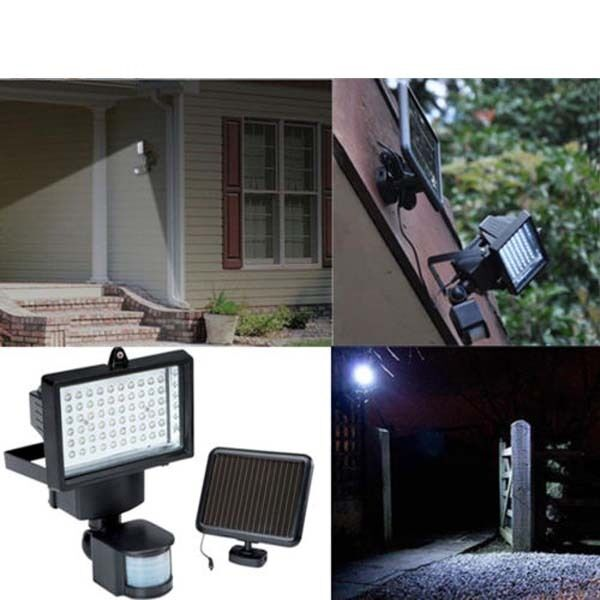 Solar Ed 60 Led Motion Sensor Security Light Flood Lighting Lamp Ls