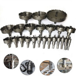 Carbide-Tip-TCT-Hole-Saw-Cutter-Drill-Bit-For-HSS-Steel-Metal-Alloy-15-50mm-New