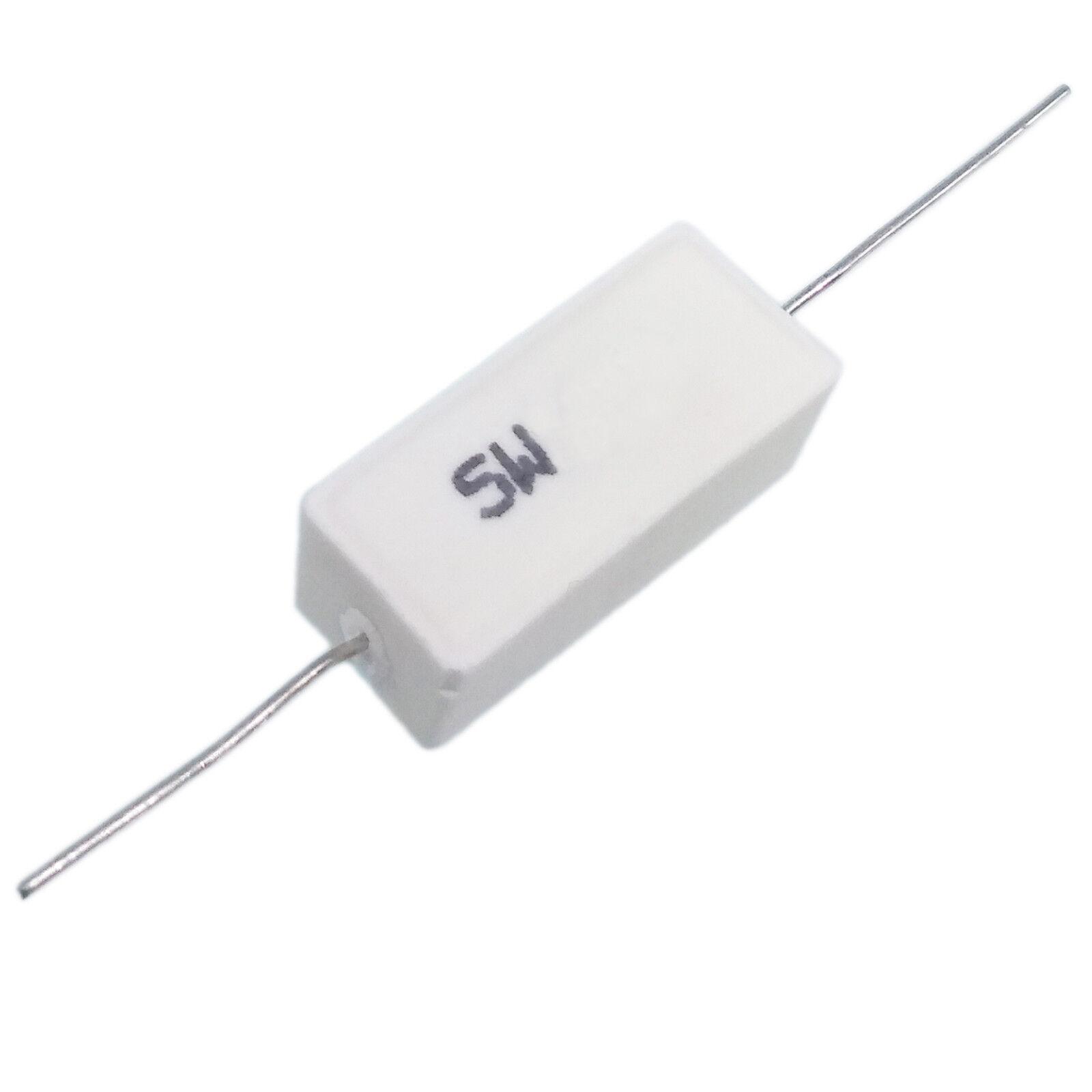 US Stock 10pcs 5.1 ohm 5R1ΩJ 5 watt Axial Ceramic Cement Power Resistor 5W