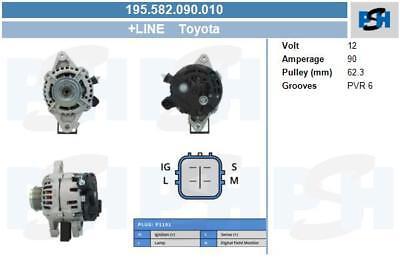 4d Diesel 2005-2013 Tout Nouveau 90 A Alternateur Pour Toyota Yaris Mk2 1.4 D