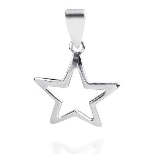 18mm Cute Cut Out Star .925 Silver Pendant