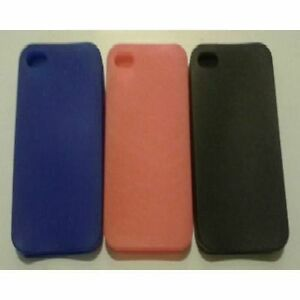 iPhone-4-amp-4S-New-Stylish-Plain-Colour-Silicon-Case-Cover-Colours-Available