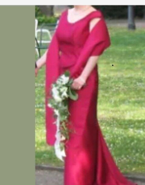 3-teiliges elegantes  Brautkleid,  Brautmutter. Corsagekleid Gr. 40