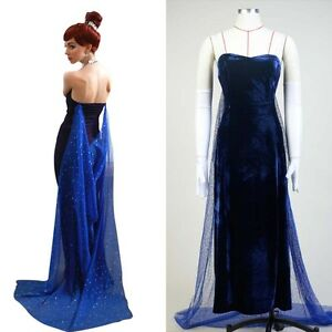 fox 1997 film anastasia romanov cosplay costume navy suit. Black Bedroom Furniture Sets. Home Design Ideas