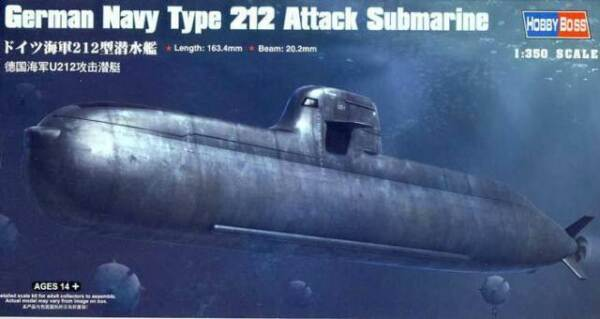 Neu Hobbyboss 83527-1:350 German Navy Type 212 Attack Submarine