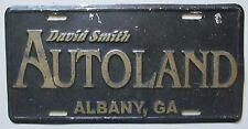 1990's ALBANY, GEORGIA DAVID SMITH AUTOLAND DEALERSHIP BOOSTER License Plate