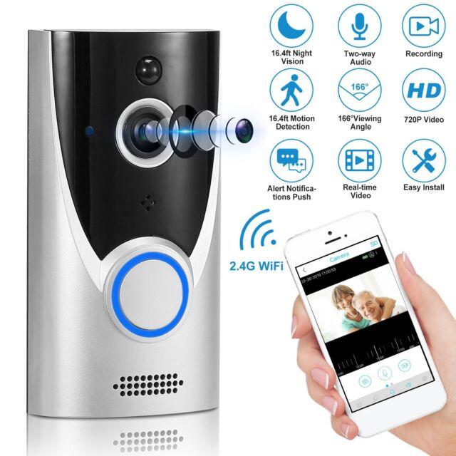Wireless WiFi Video Doorbell Smart Phone Door Ring Bell Intercom Camera Security