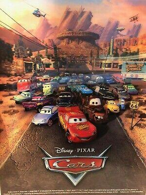 Disney Pixar Cars Holographic 3d Poster 14x11 2006 Lightning Mcqueen Etc Ebay