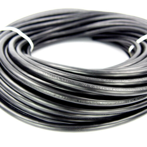 """18//3 AWG Replacement Electrical Portable Cord SJT 0.305/"""" OD Black 100-Ft"""