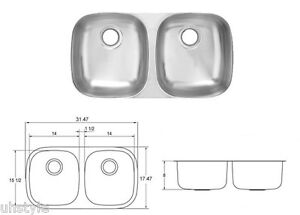 Kitchen Sink Models With Price : ... -Stainless-Steel-Undermount-Double-Bowl-Kitchen-Sink-Model-UD800BX