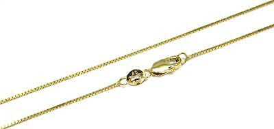 """0.65MM 14K YELLOW GOLD SHINY ITALIAN BOX CHAIN NECKLACE LOBSTER CLASP 16/""""-24/"""""""