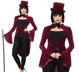 Lady-Vampire-Jacket-Deluxe-Vampiress-Cloak-Burgundy-Velour-Fancy-Dress