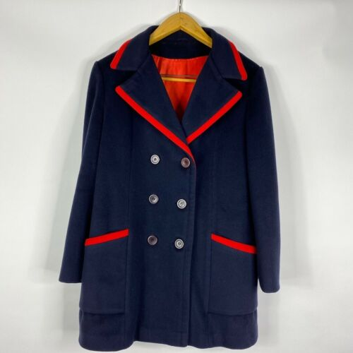 Mackintosh Womens Peacoat Blue Red Double Breasted