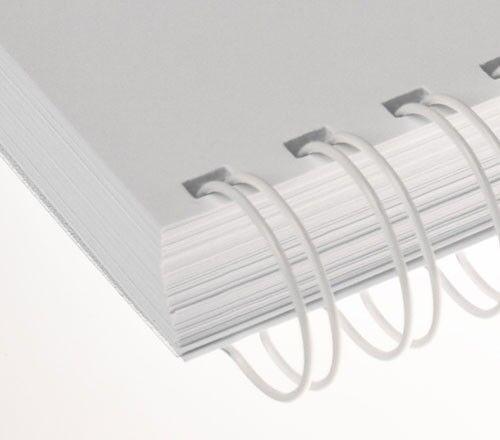 =DIN A4 23 Schlaufen 2:1 Teilung RENZ Draht-Bindeelemente weiß Ø 6,9 mm