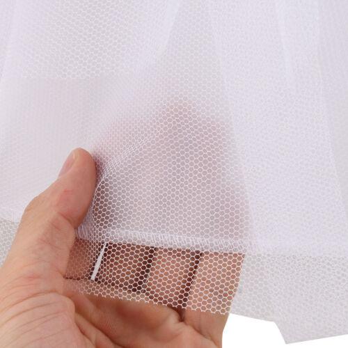 Child Kids Petticoat Flower Girl Party 2-Hoop Crinoline Underskirt Dress Slips