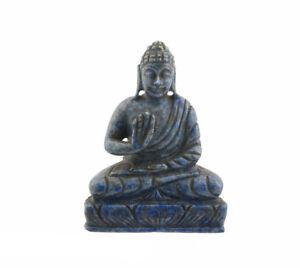 Statua Di Budda Tibetano IN Lapislazzuli Pietra Naturale 1553
