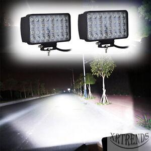 2X-96W-LED-Arbeitsscheinwerfer-12V-24V-Weiss-Offroad-Scheinwerfer-fuer-Jeep-SUV