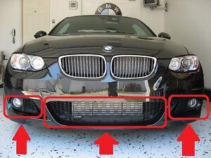 BMW-3-SERIES-E92-E93-M-SPORT-07-11-GENUINE-FRONT-BUMPER-LOWER-GRILL-MESH-SET