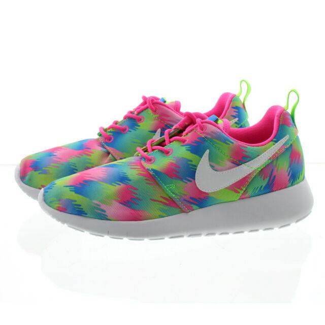 c1b4e3751fd7 Nike Roshe One Print GS Multi-color Rosherun Kids Youth Running ...