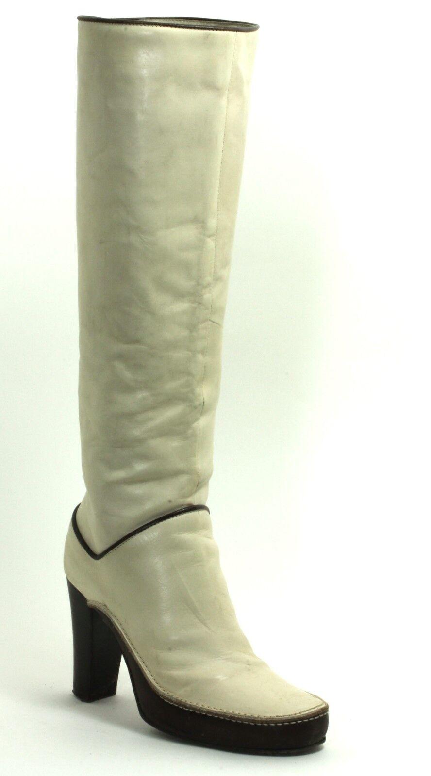 Damenstiefel Vintage Stiefel Creme High Heels Plateau Diesel Creme Stiefel Beige 36 6a0343