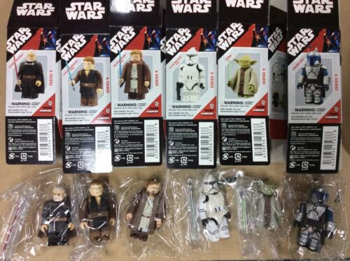 Medicom Star Wars Kubrick Series 9 Set Yoda Jango Fett Anakin Obiwan 6 figure