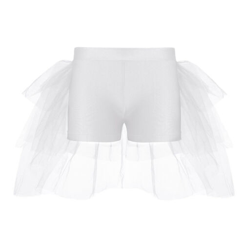 Kids Girls Glittery Sequin Halter Jazz Crop Tops Shorts Ballet Dance Gym Costume
