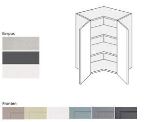 Eck Hängeschrank Küchenschrank Küche Drehtüren 60x60cm Farbe wählbar ...