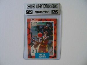 034-Miami-Heat-034-Willie-Burton-Signed-STAR-PICS-Card-CAS-Encapsulated