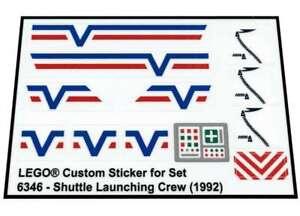 Lego-Custom-Pre-cut-Transparent-Sticker-for-Town-6346-Shuttle-Launching-Crew