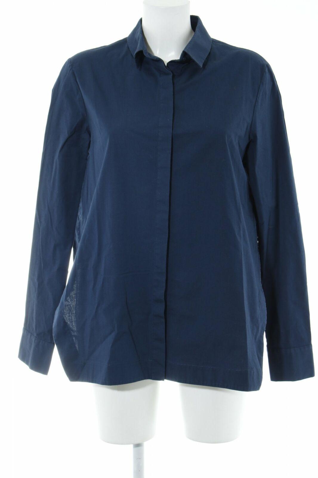 DGoldTHEE SCHUMACHER Langarmhemd dunkelblau Business-Look Damen Gr. DE 42 Hemd