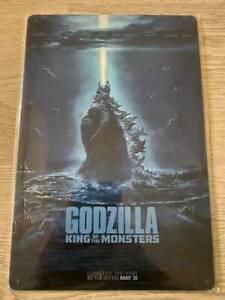 Plaque métal décorative Godzilla