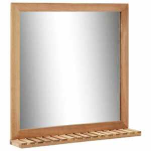 vidaXL-Solid-Walnut-Wood-Bathroom-Mirror-60x12x62cm-Makeup-Cosmetic-Mirror