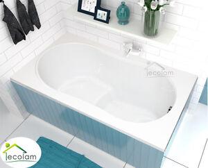 badewanne wanne rechteck sitzbadewanne sitz 120x75 130x75 cm styropor acryl ebay. Black Bedroom Furniture Sets. Home Design Ideas