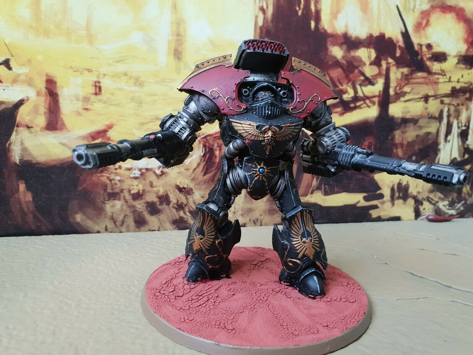 Warhammer forgeworld shadow keepers Custodes Telemon dreadnought + 2 weapon arms