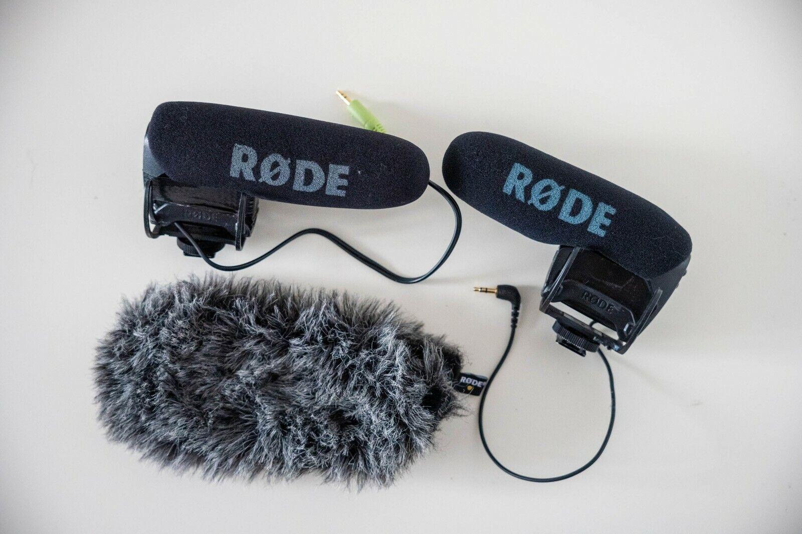 RODE VideoMic Pro shotgun microphones, pair, working with minor repairs