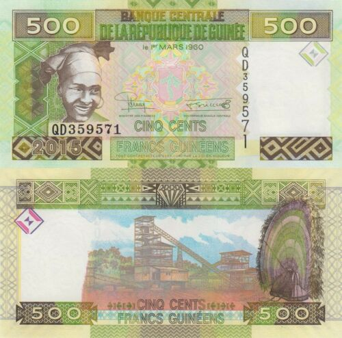 Guinea 500 Francs Woman//Minehead//p47 UNC 2015