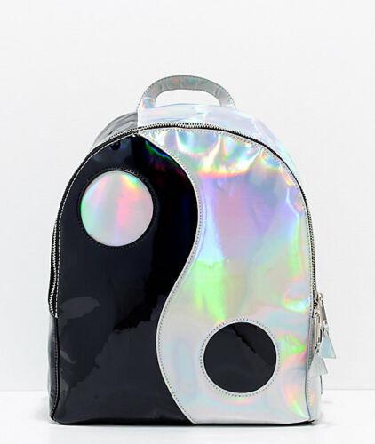 YRU Yin Yang Holographic Positive Negative Chinese Backpack Book bag BALANCE