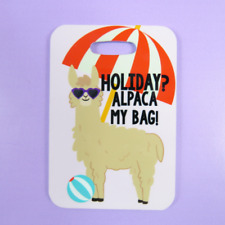 Holiday Alpaca My Bags Visual Luggage Tag Suitcase Bag Funny Travel Llama