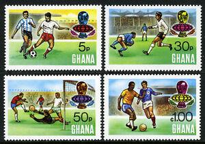 Ghana 525-528, MNH Coupe Du Monde Football Championnat,Munich,Allemagne,1974