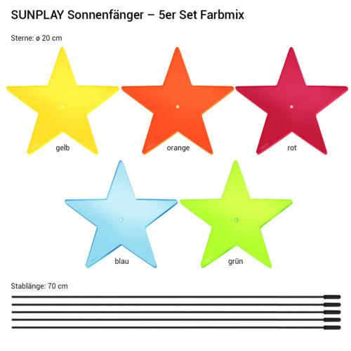 5 pezzi sunplay sole scatenala ø20cm Suncatcher Giardino Spina Stelle Lisa Farbmix