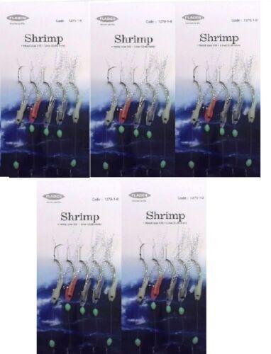 For Cod Mackerel Wrecking Mini Lumi Shrimp Sea Fishing Rigs To 1//0 Hooks