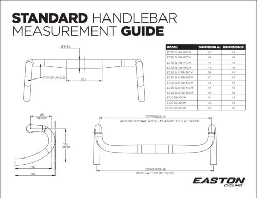 Easton EC90 SLX3 Road Handlebar 46cm 31.8 New USA BLACK Carbon
