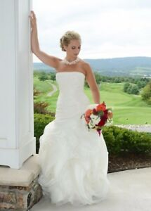 Details About Vera Wang White Wedding Dress Style Vw351011